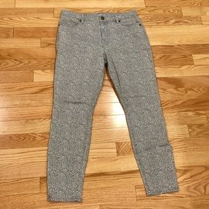 Loft Floral Jeans, Modern Skinny Ankle/ Size 31/12